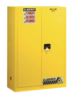 justrite sure grip ex yellow safety cabinet 45 gallon - Paint Storage Cabinets