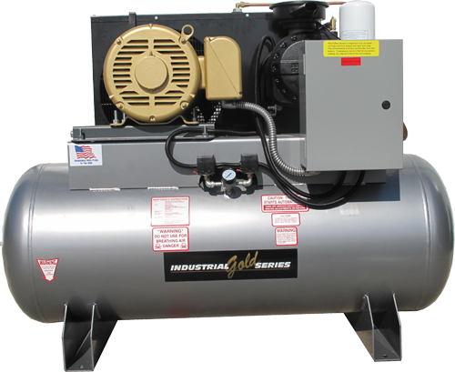 Rotary screw air compressor 7 5hp 1ph 80gallon tools usa for Air compressor for auto painting