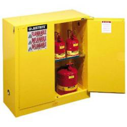 Justrite 893020 Sure Grip EX Yellow Safety Cabinet For Flammables